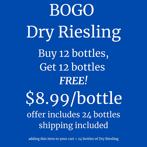 BOGO Dry Riesling
