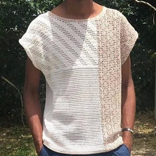 Tee-shirt homme au crochet