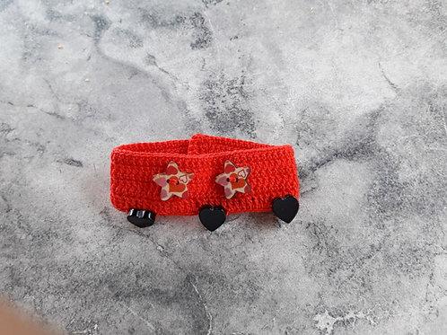Bracelet saint-valentin rouge avec des perles noires