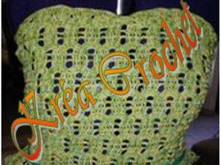 Bustier jaune/vert création au crochet