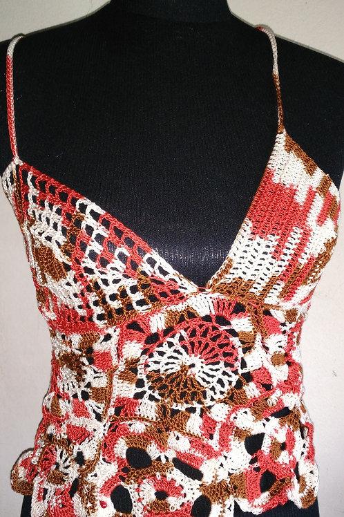 Petit top coloré sympa création au crochet