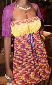 tunique au crochet nylon