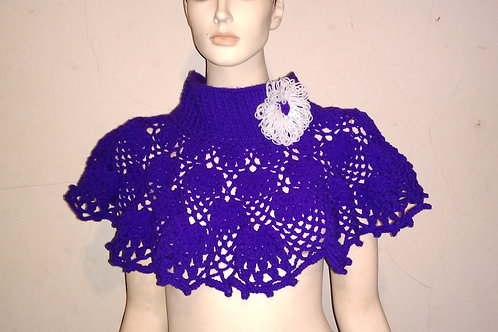 snood violet 100% acrylique création au crochet