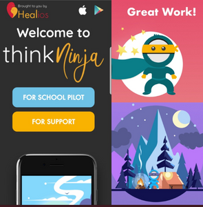 """Healios Labs created its 1st App """"ThinkNinja"""" designed to help young people better manage their mental health, build resilience and educate through AI"""