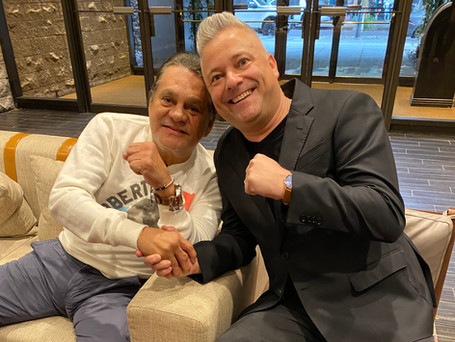 """After """"The Main Event"""" with my Compadre, """"The Champ"""" Mr. Roberto Duran"""
