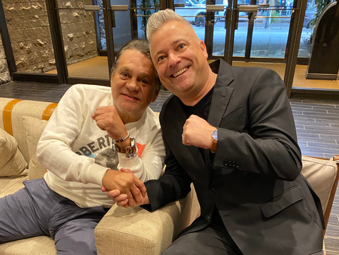 "After ""The Main Event"" with my Compadre, ""The Champ"" Mr. Roberto Duran"