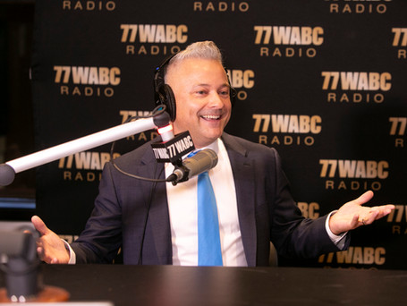 """In Studio at 77WABC Radio NYC for """"The Greatest Show of All Time"""""""