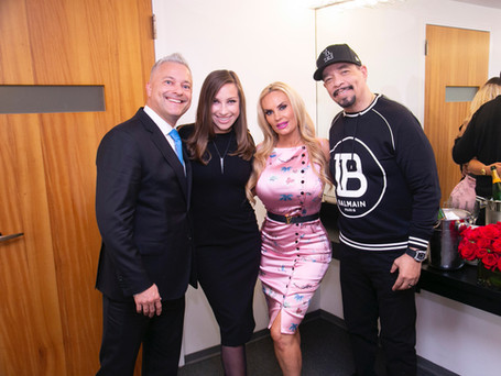 """In dressing room """"X"""" at Carnegie Hall with Ice T, Coco and my AMAZING wife Mrs. Kristina Silva"""