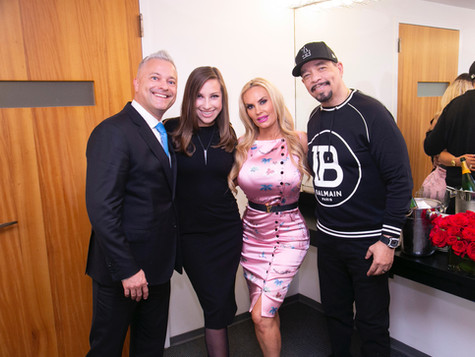 "In dressing room ""X"" at Carnegie Hall with Ice T, Coco and my AMAZING wife Mrs. Kristina Silva"