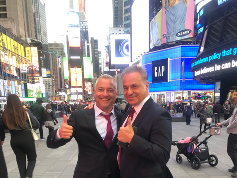 Time Square with the one and only Clint Arthur