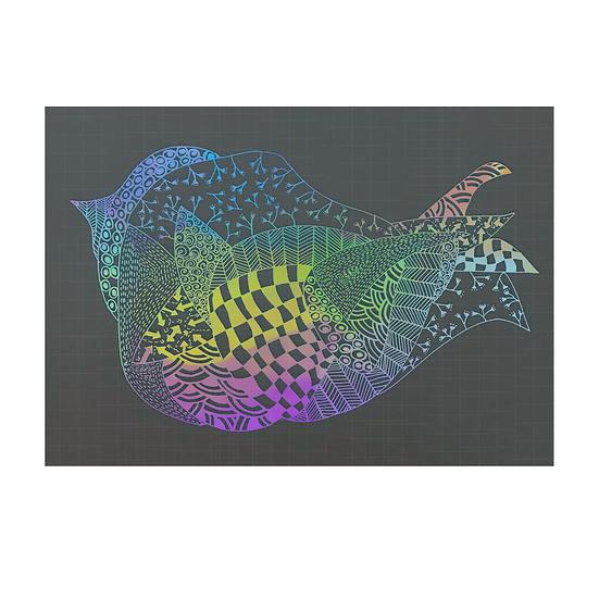 Little Bird Pastel Rainbow