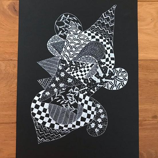 Creature of Rhythm -Monochrome Series Original Artwork