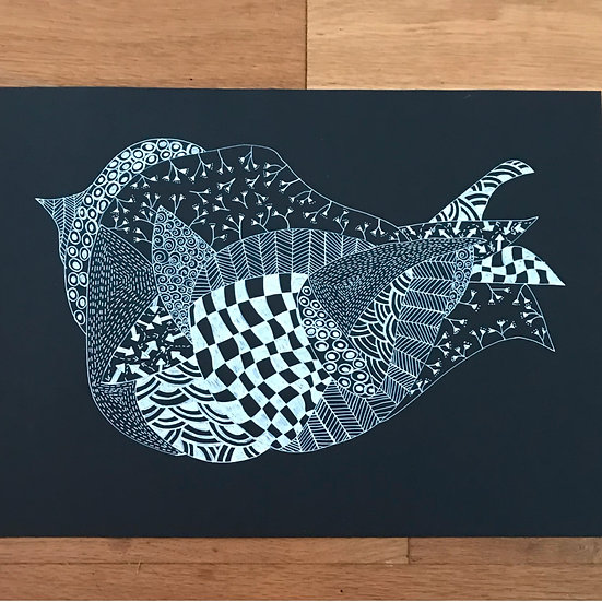 Little Bird - Monochrome Series - Original Artwork