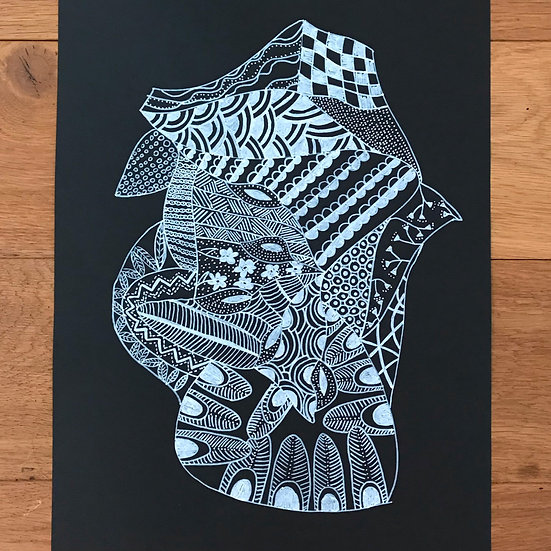 Tribal Offering - Monochrome Series Original Artwork