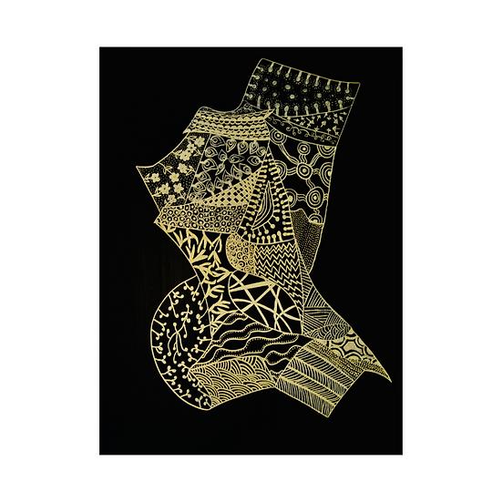 Top Hatted Bird -Original Artwork