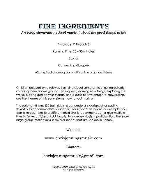 Fine Ingredients