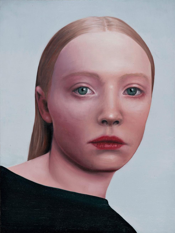 Michael Klipphahn, Mädchen, 2019, Öl auf Holz, 40x30 cm