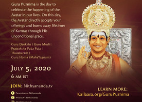 Experience Guru Poornima atleast ONCE in your Life Time
