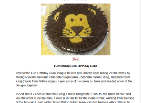 Easy Lion Cake with Buttercream in Six Steps