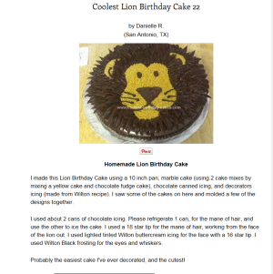 Magnificent Easy Lion Cake With Buttercream In Six Steps Funny Birthday Cards Online Elaedamsfinfo