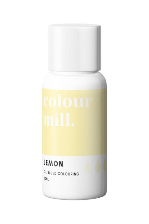 Lemon Oil Based Food Colouring 20ml