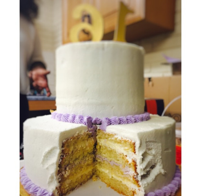 Gotta love when the kids get their hands on the buttercream before you get a chance to take your inside shot ;)