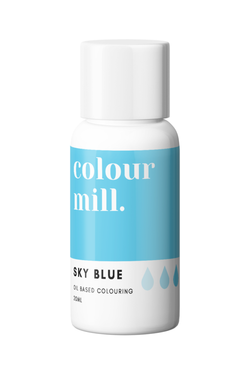 Sky Blue Oil Based Food Colouring 20ml