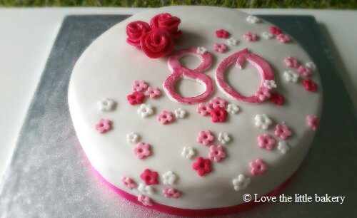 80 birthday - Love the little bakery 2