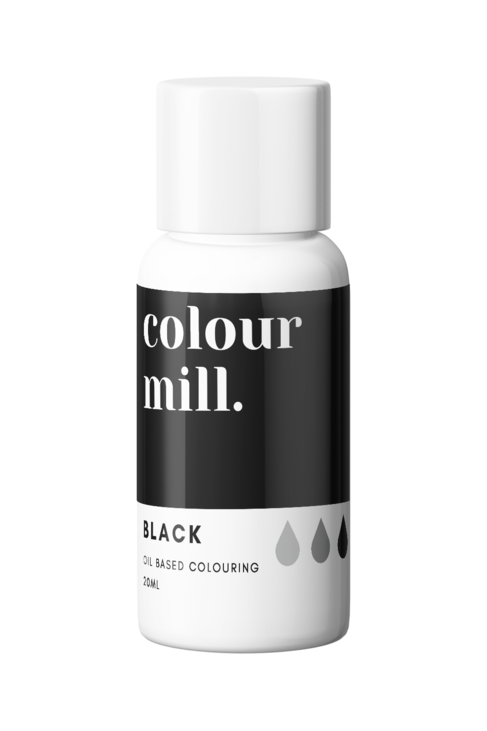 Black Oil Based Food Colouring 20ml