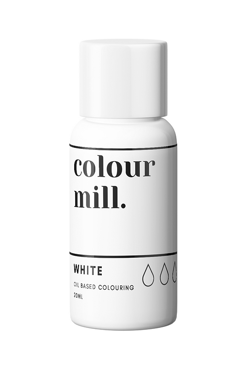 White Oil Based Food Colouring 20ml