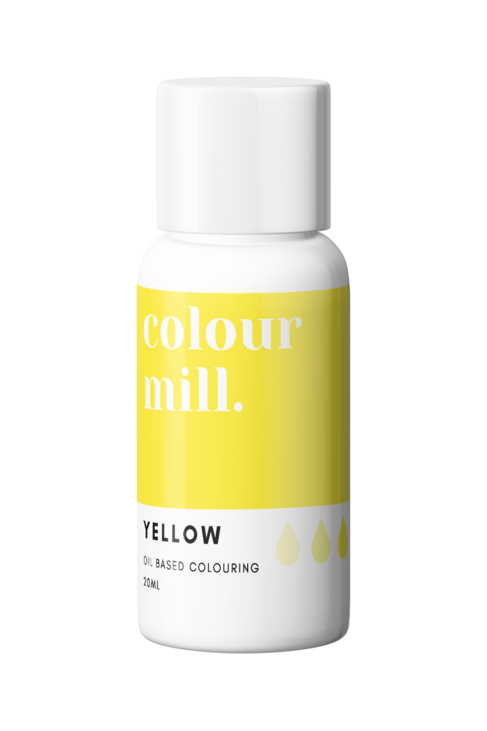 Yellow Oil Based Food Colouring 20ml