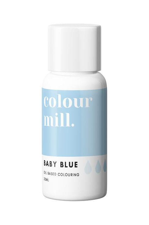 Baby Blue Oil Based Food Colouring 20ml
