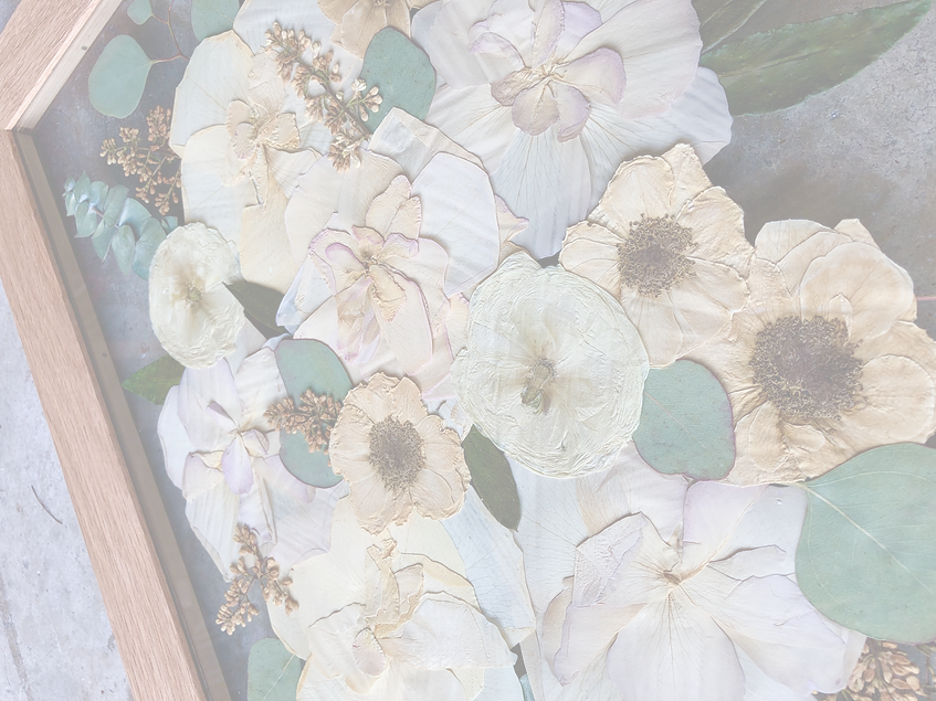 Pressed wedding bouquet