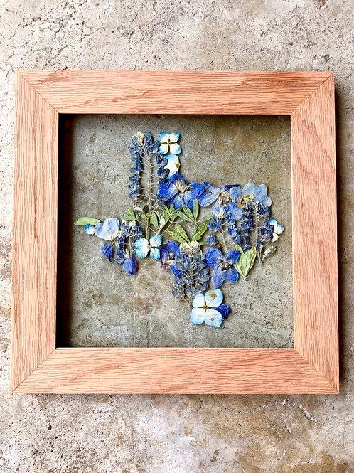 Texas Bluebonnet Wood Frame