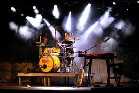 Drumsolo mit Lichteffekten