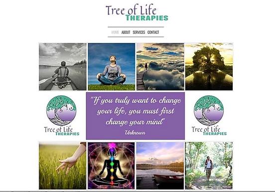Tree of life Therapies Website Design