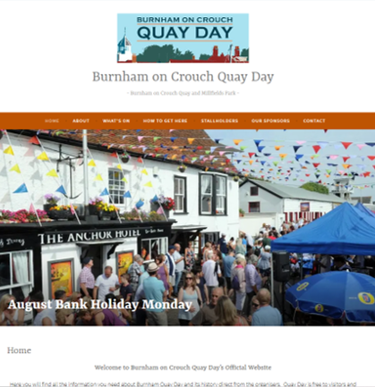 Burnham on Crouch Quay Day Website Design