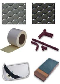 Wulfmeyer 多种内舱整新材料, 包括: 防滑/防水地板胶及多种背胶类材料、隔热/绝缘等多用途发泡聚乙稀材料、窗帘、尼龙搭扣、轻质镜面、厕所盖板等