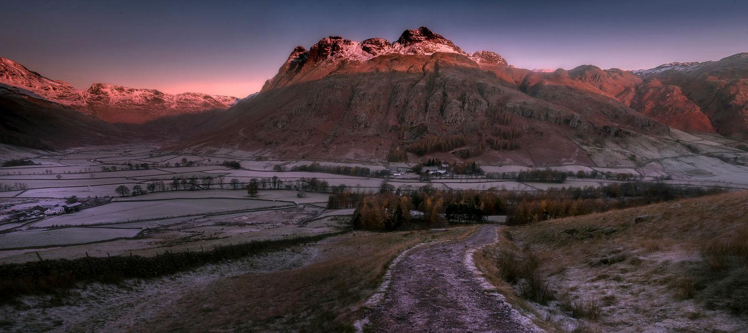 The Langdales in winter