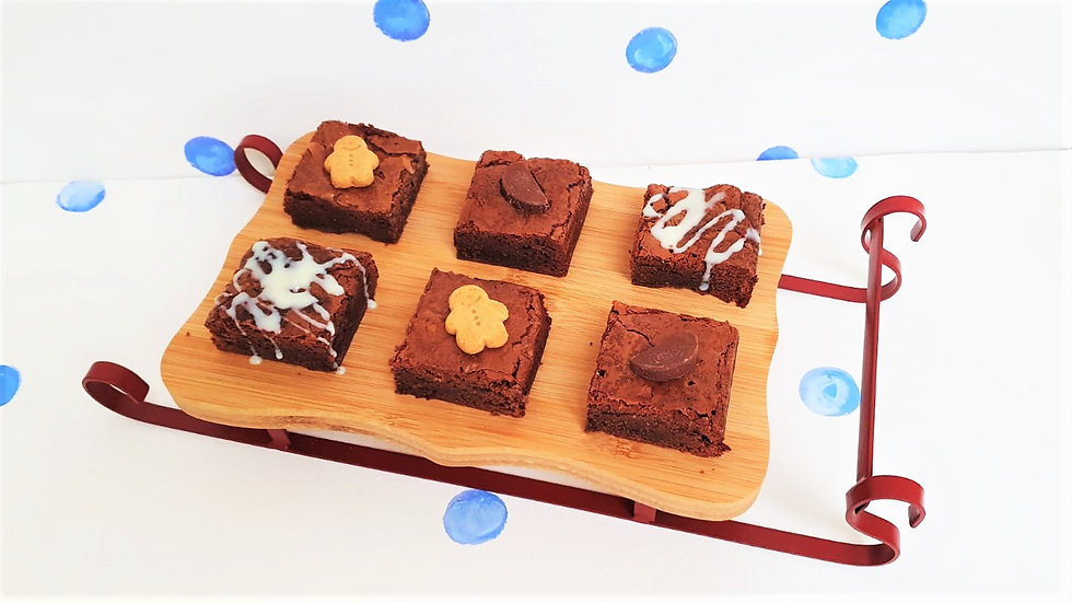 Christmas Brownie Selection Luxury Treat Box of 6