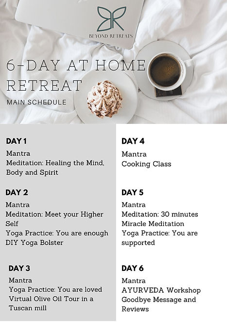 6-day at home retreat printable schedule