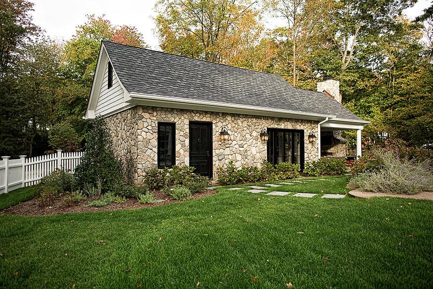 Z+ Architects Stone Poolhouse