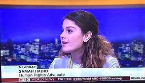 Samah Hadid on BBC