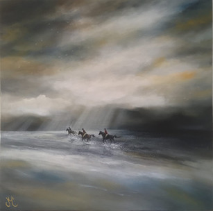 Running through the storm