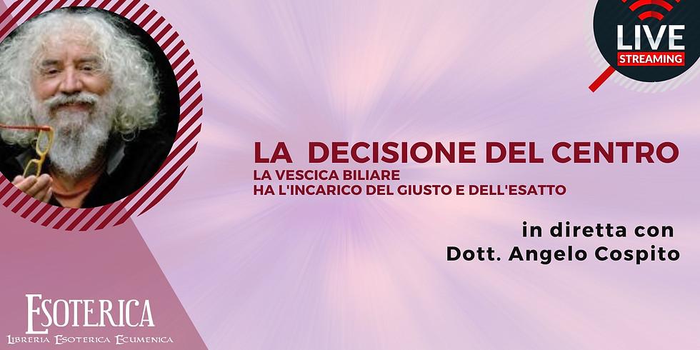 LA DECISIONE DEL CENTRO. Live Facebook con il dott. Angelo Cospito
