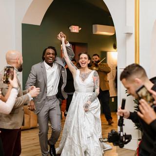 Wedding couple at The Deacon