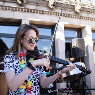 Violin Performance at Daybreaker