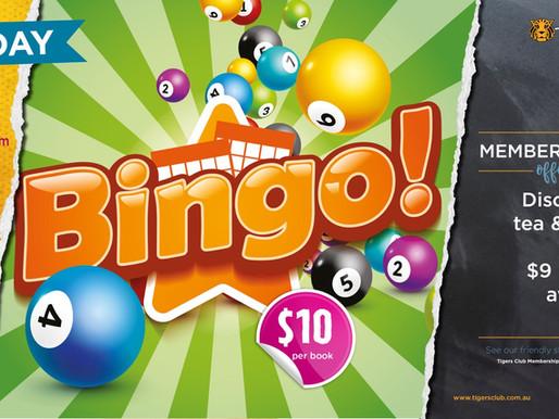 Bingo returns for 2021.