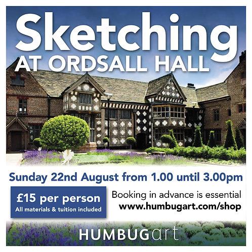 Sketching at Ordsall Hall