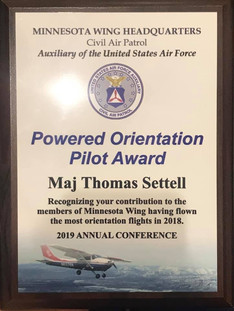 Powered Orientation Pilot Award